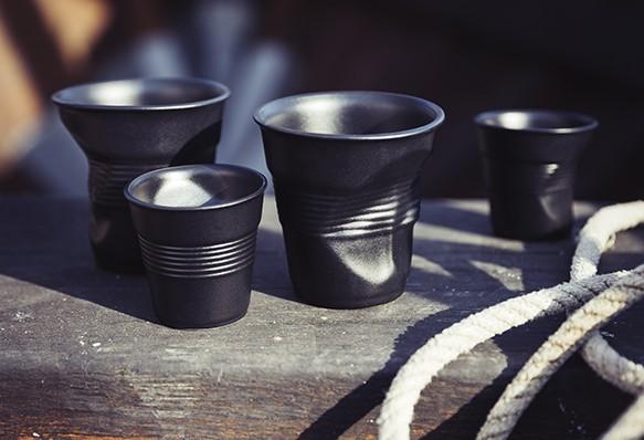 revol porcelain crumpled cups