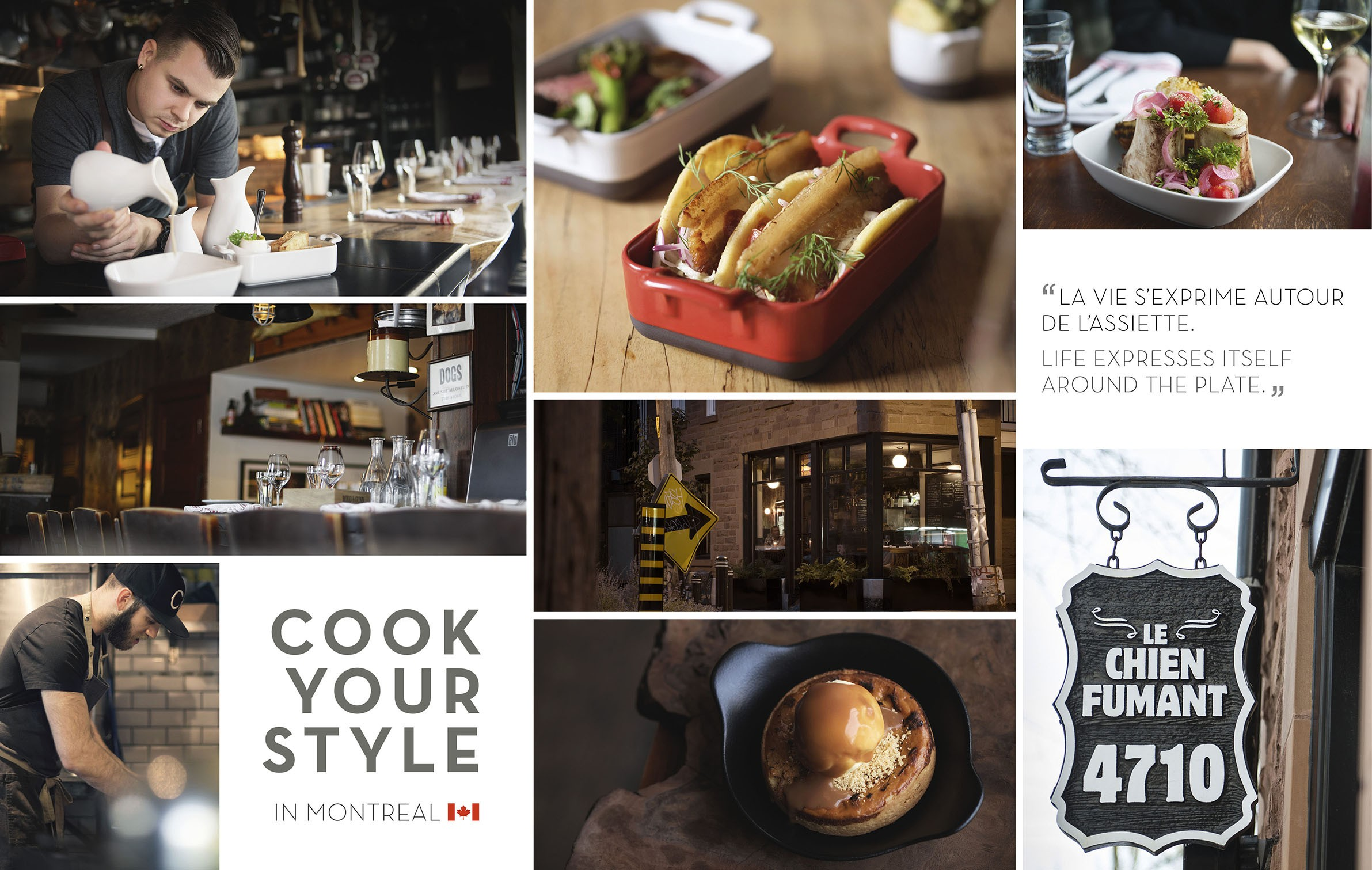 cook your style in montreal - le chien fumant