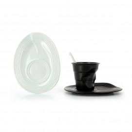 Crumpled porcelain saucer