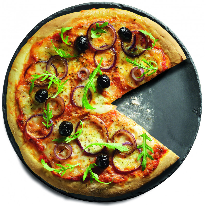 Ceramic pizza plate with slate effect  sc 1 st  Revol Porcelain & pizza plate with slate effect