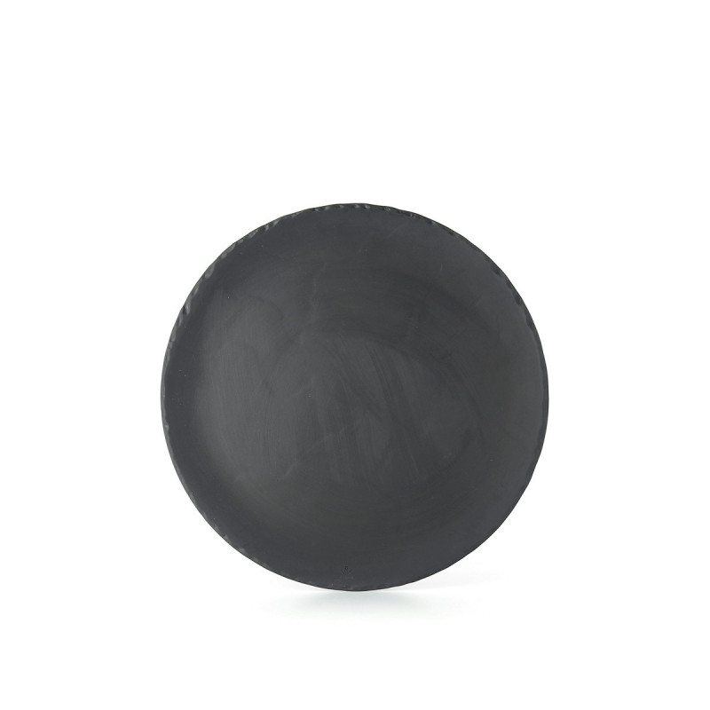 Round Ceramic Plate With Slate Effect